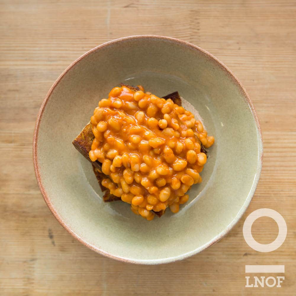 Beans on sourdough at Baltic Kitchen in Newcastle Gateshead