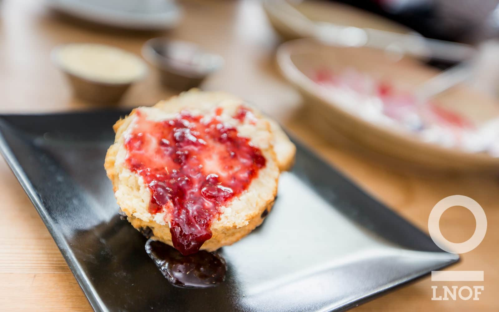 Fruit scone and jam at Baltic Kitchen in Newcastle Gateshead