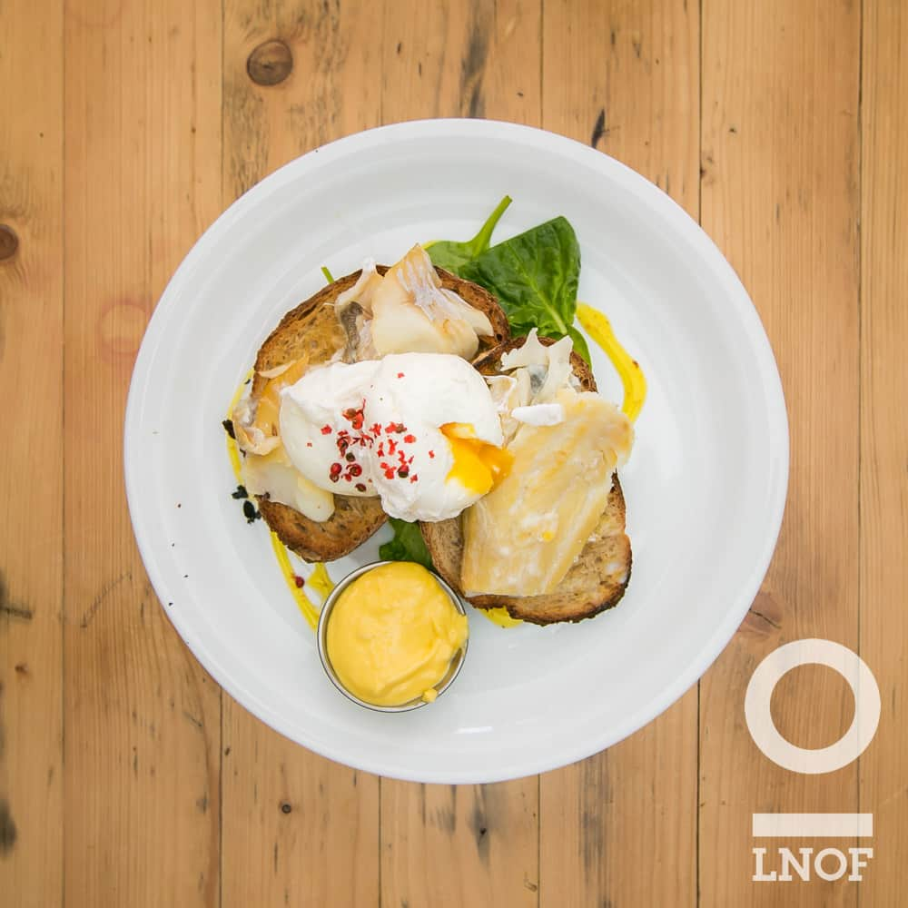 Smoked haddock and poached egg on toast at Ernest Bar in Newcastle upon Tyne