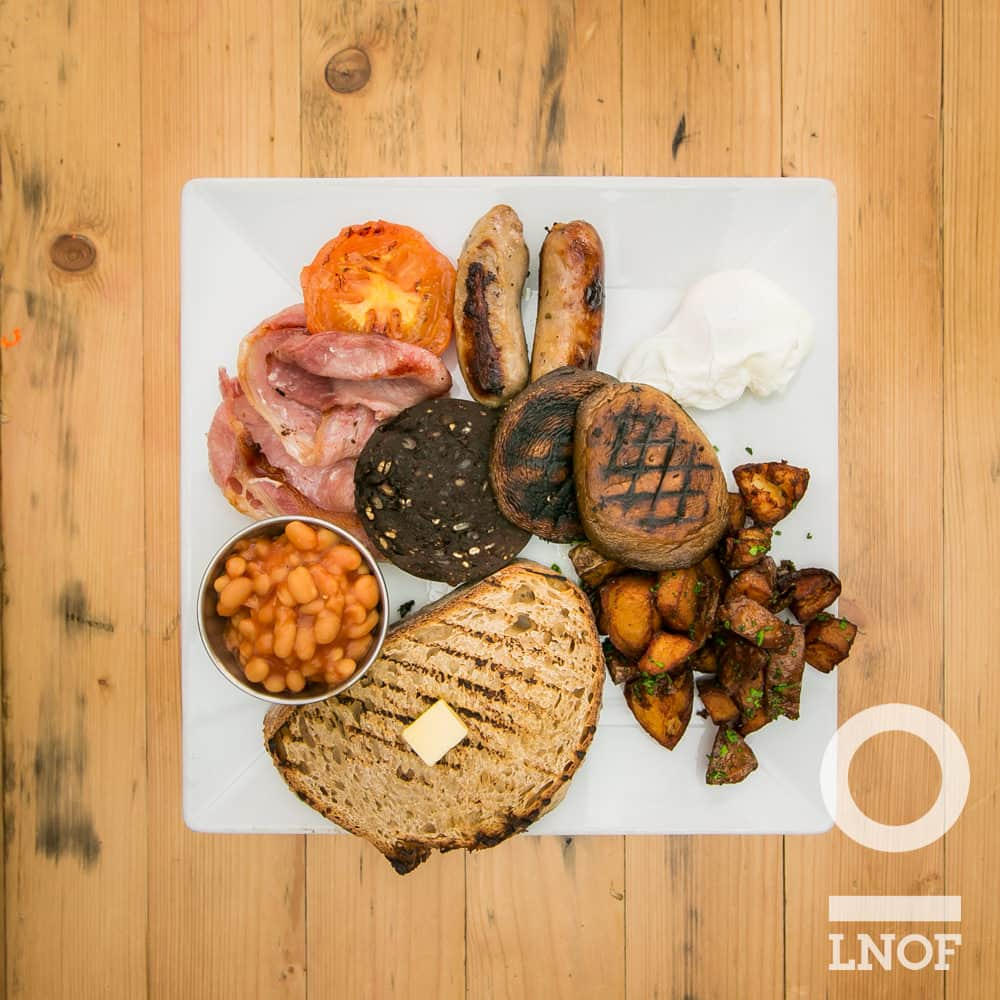Full English breakfast at Ernest in Newcastle upon Tyne