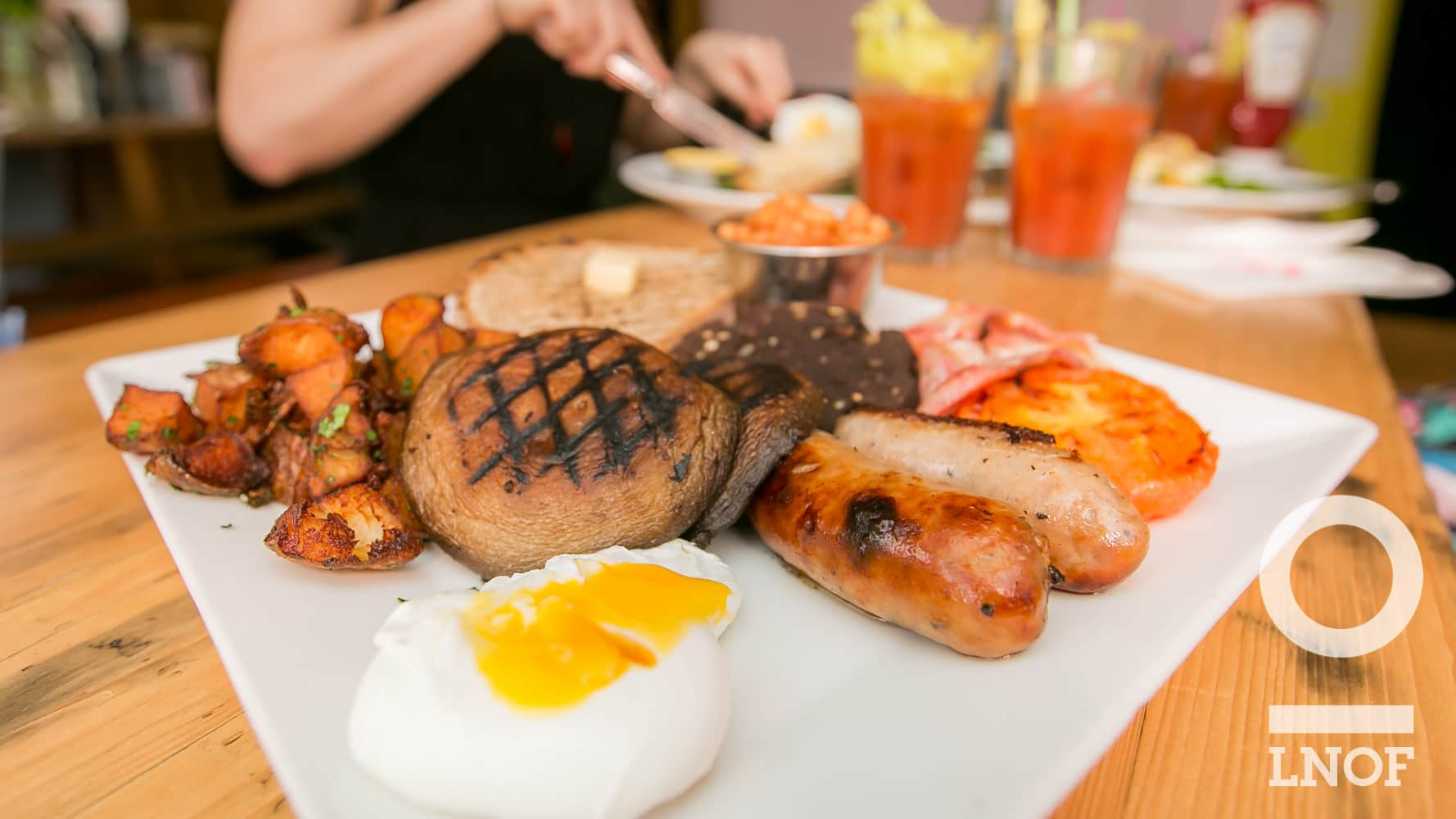 Full English hangover brekafast at Ernest in Newcastle upon Tyne