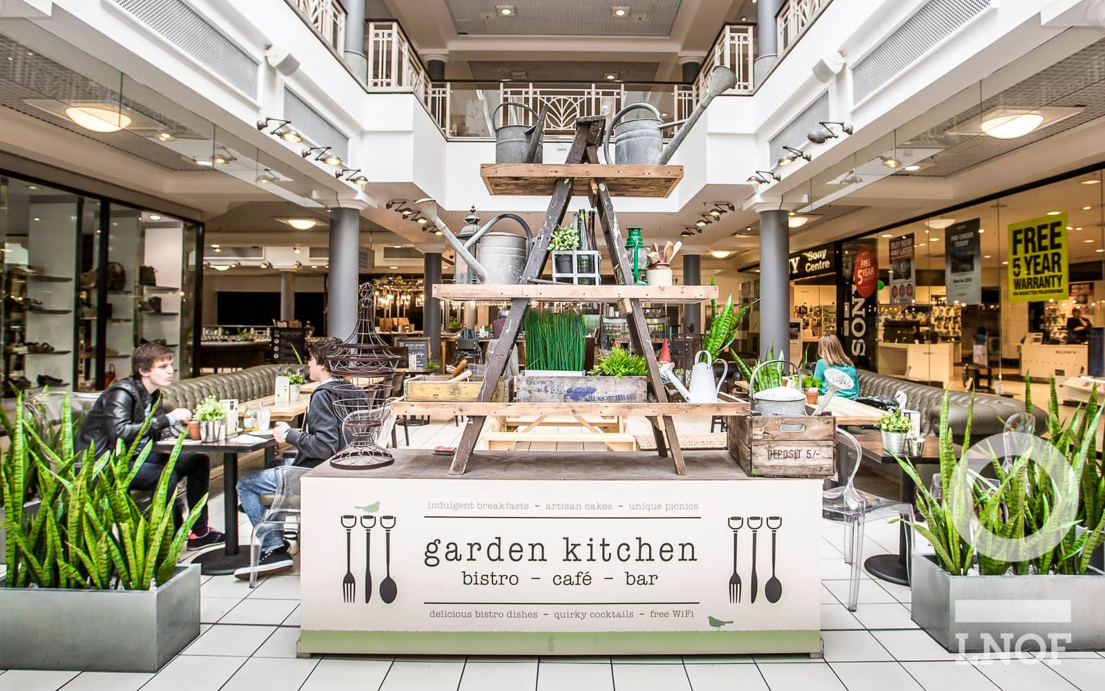 Close up exterior at Garden Kitchen in Newcastle upon Tyne