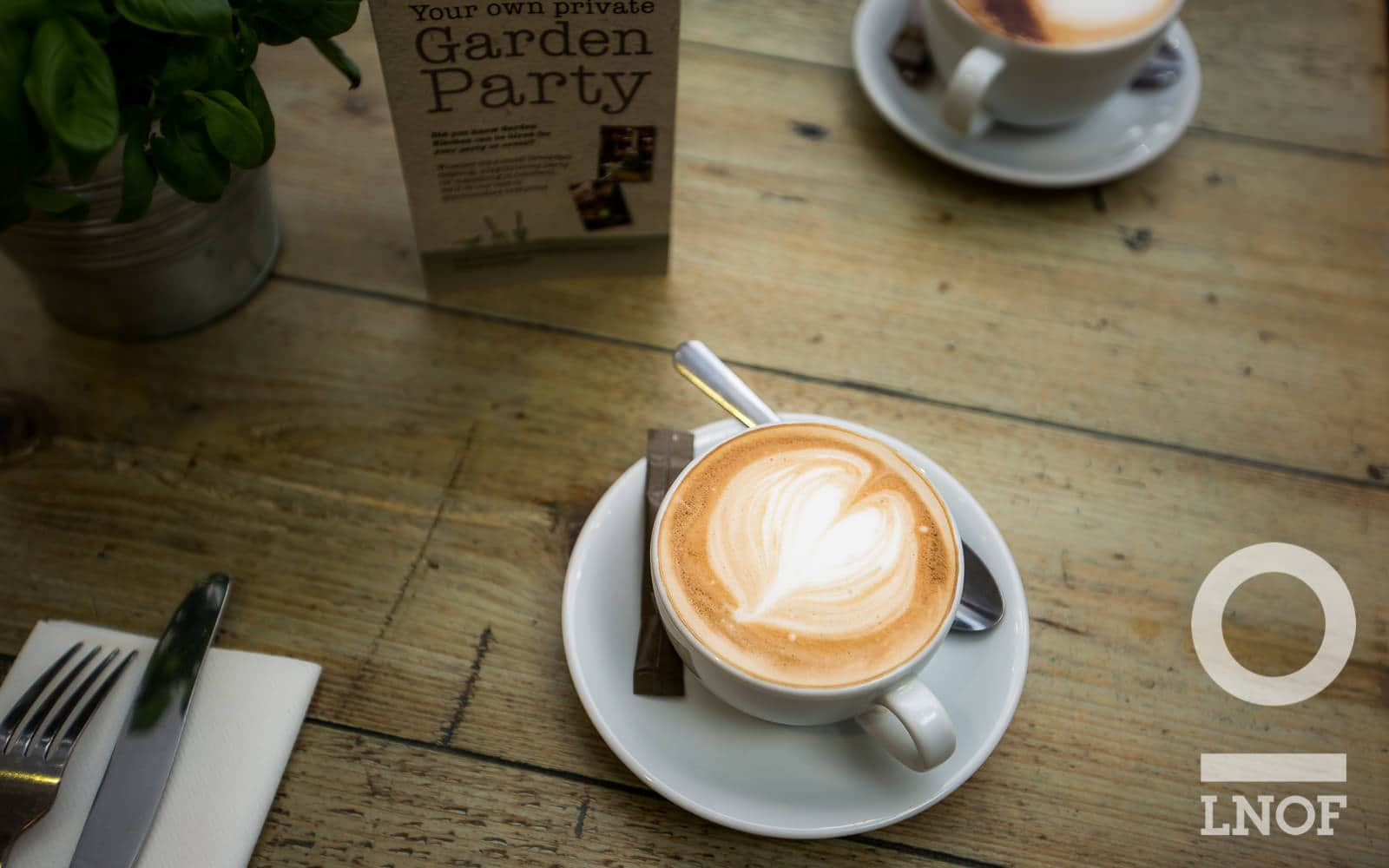 Latte at Garden Kitchen in Newcastle upon Tyne