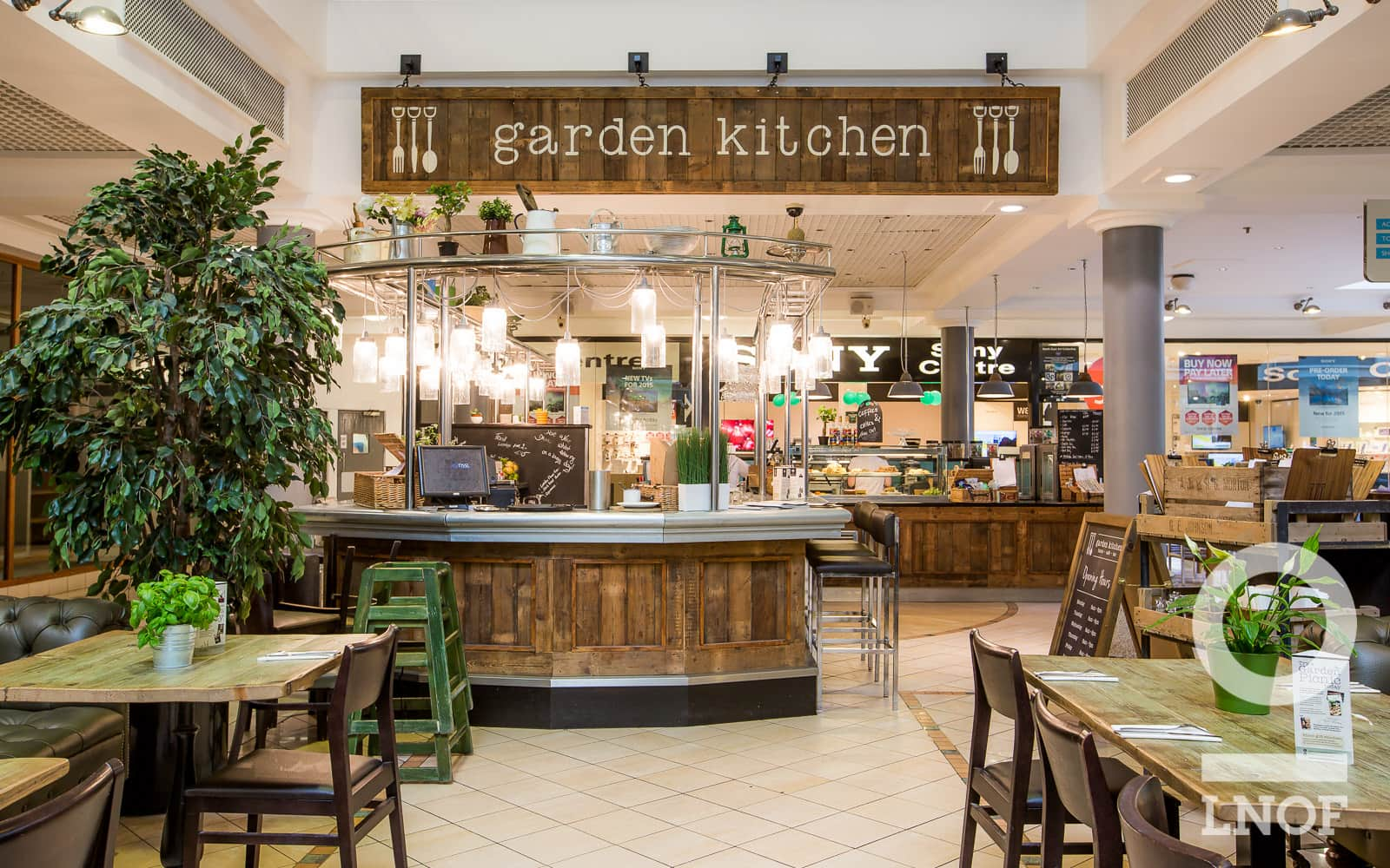 Trendy bar at Garden Kitchen in Newcastle upon Tyne