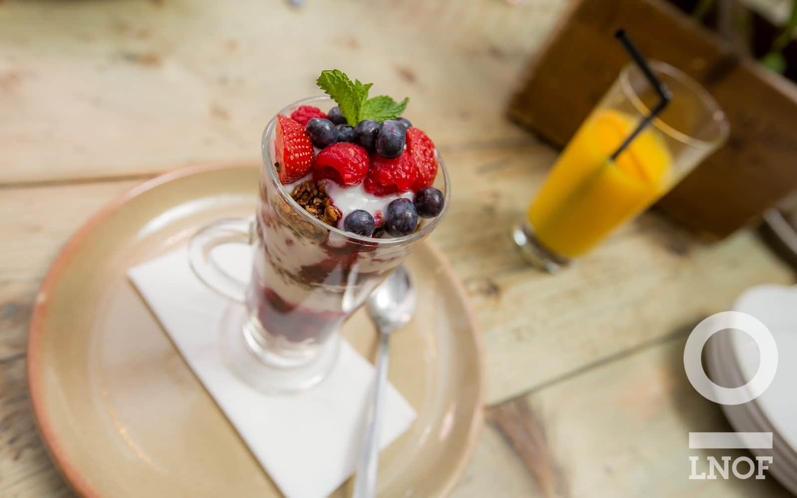 Granola and berries at Garden Kitchen in Newcastle upon Tyne