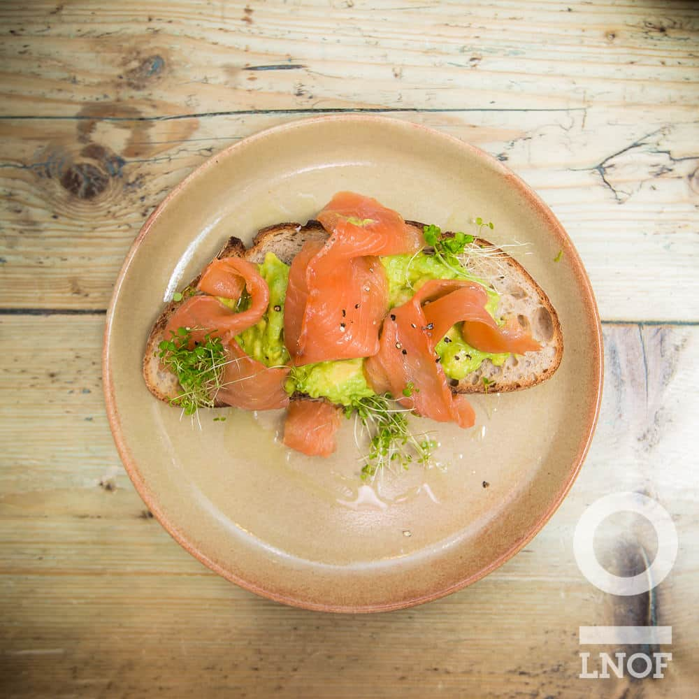 Avocado and smoked salmon on toast at Garden Kitchen in Newcastle upon Tyne