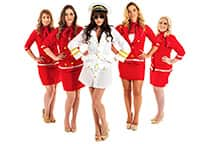 sexy female pilot and sexy air hostesses