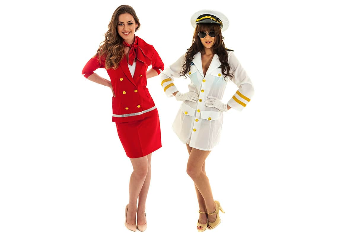 sexy pilot and air hostess