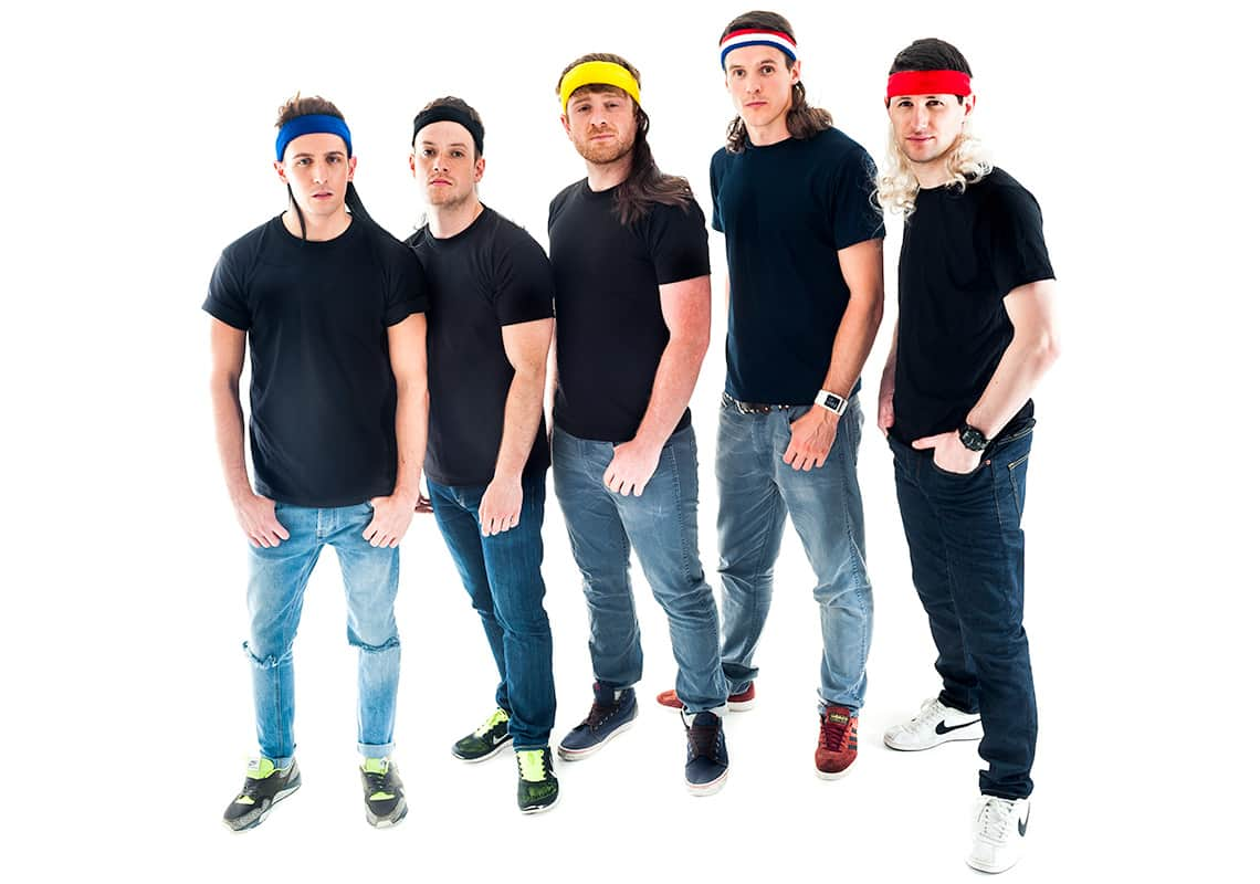 five blokes in mullet