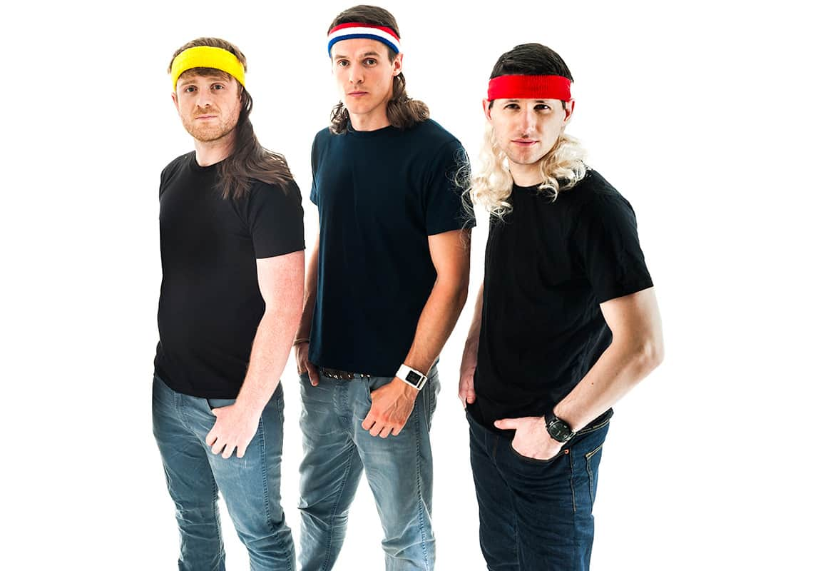 three men wearing some sexy mullets