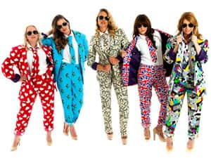 Five women in Opposuits