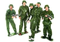 five men in Toy Soldier costumes