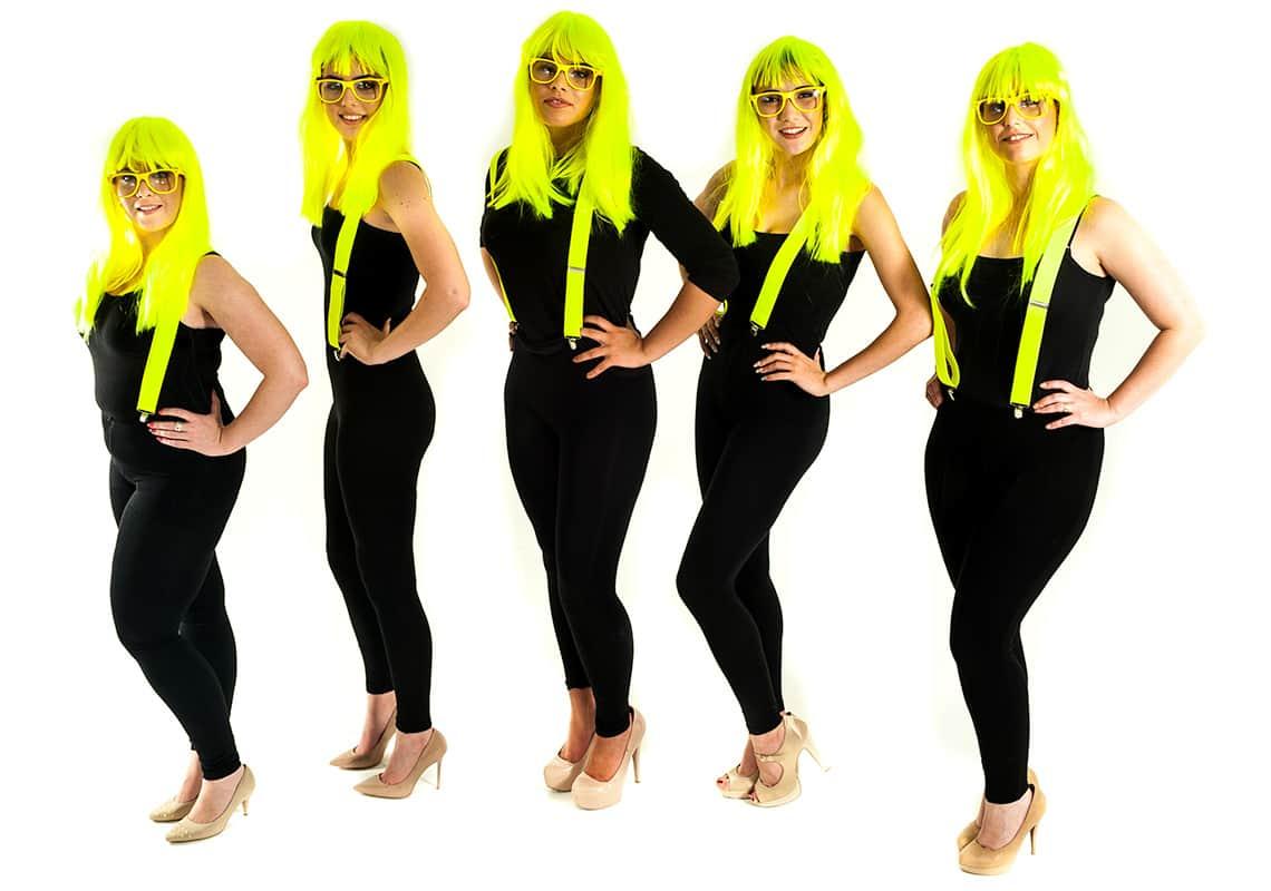 Everybody wearing neon yellow