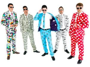 Five men in different Opposuits