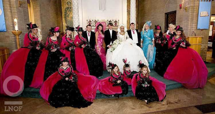 hideous black and red bridesmaid dresses