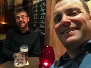 Matt and Will - selfie in the pub