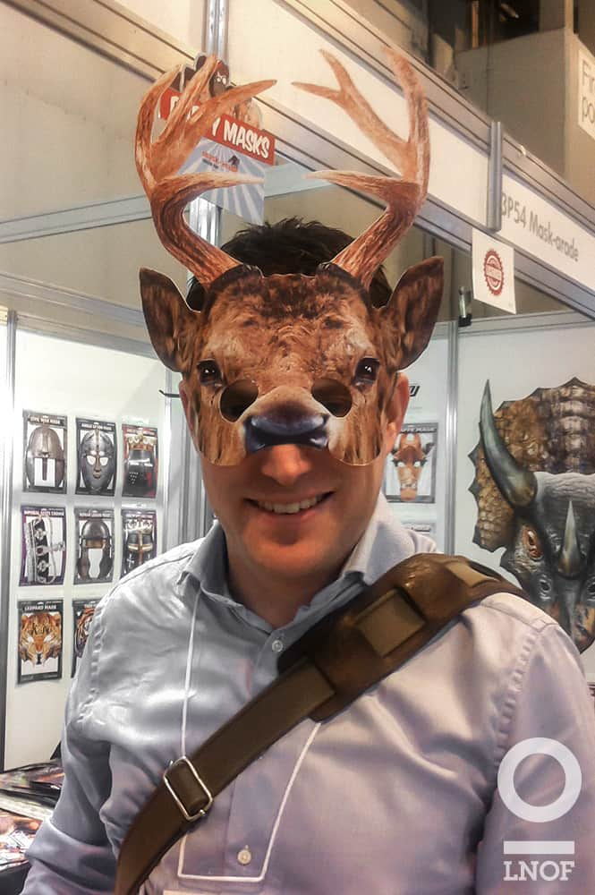 Head Honcho in a stag mask