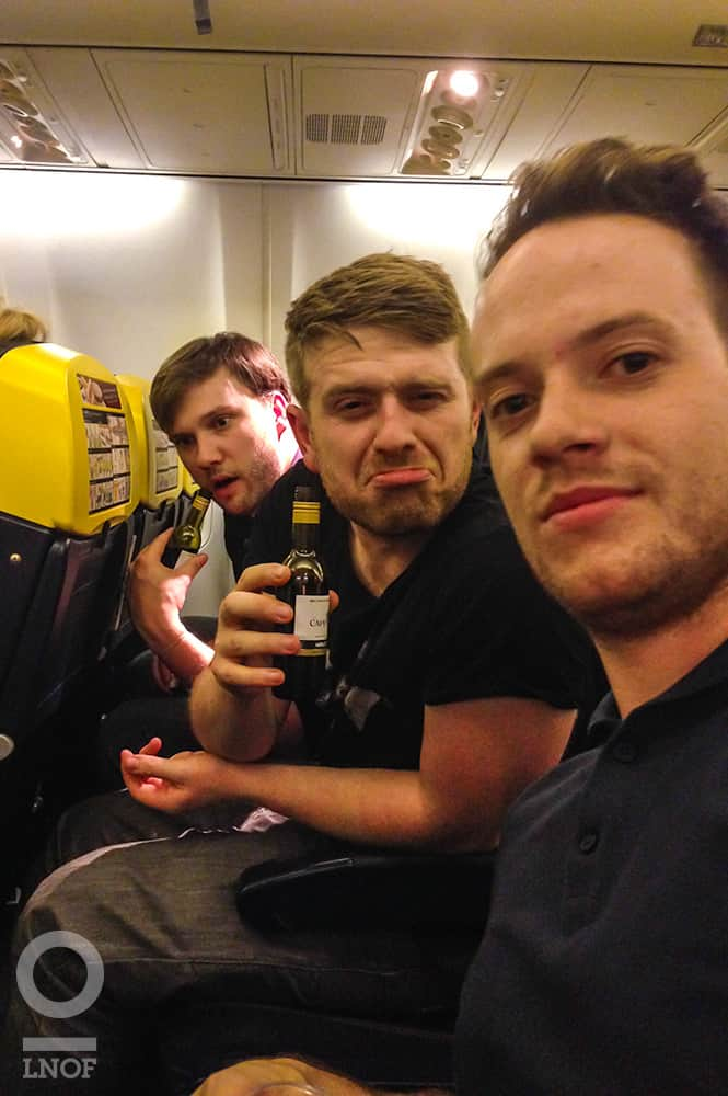 LNOF boys on the plane