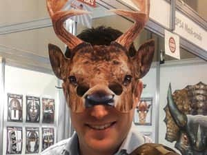 Head Honcho wearing a stag mask
