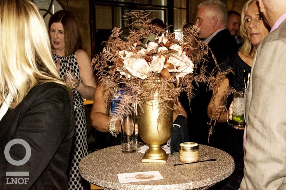 gold vase centrepiece