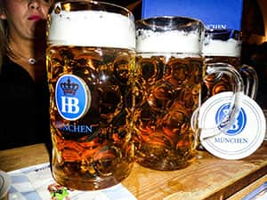 Steins on beer