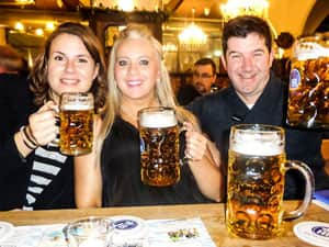 LNOF drinking beer in Germany