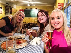 LNOF lasses drinking beer