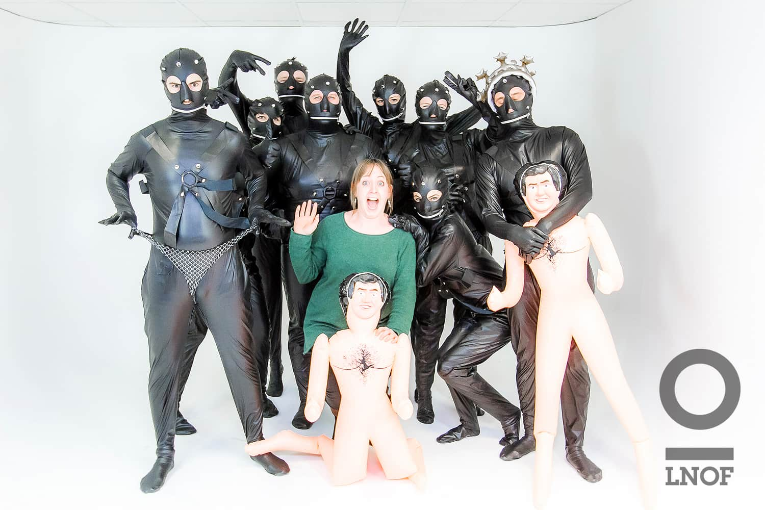 Gimps, 2 blow up men and one confused photographer in our infinity cove