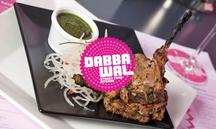 Dabbawal Indian lamb lollipops and logo