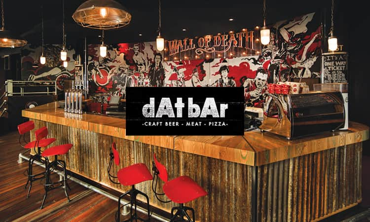 dAt bAr bar restaurant and logo