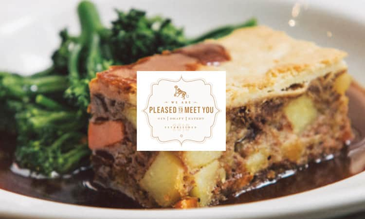 Pleased To Meet You posh pie and logo