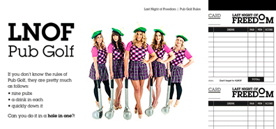 download pub golf rules and score cards