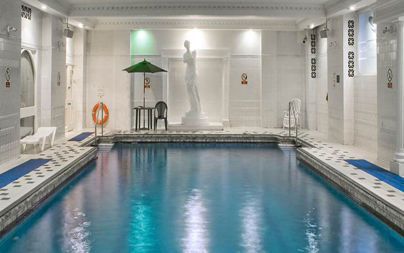 Indoor swimming pool in Britannia Adelphi hotel