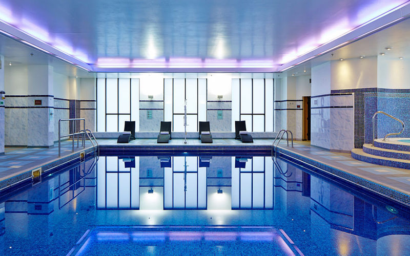 The indoor swimming pool at the Marriott Hotel, Liverpool