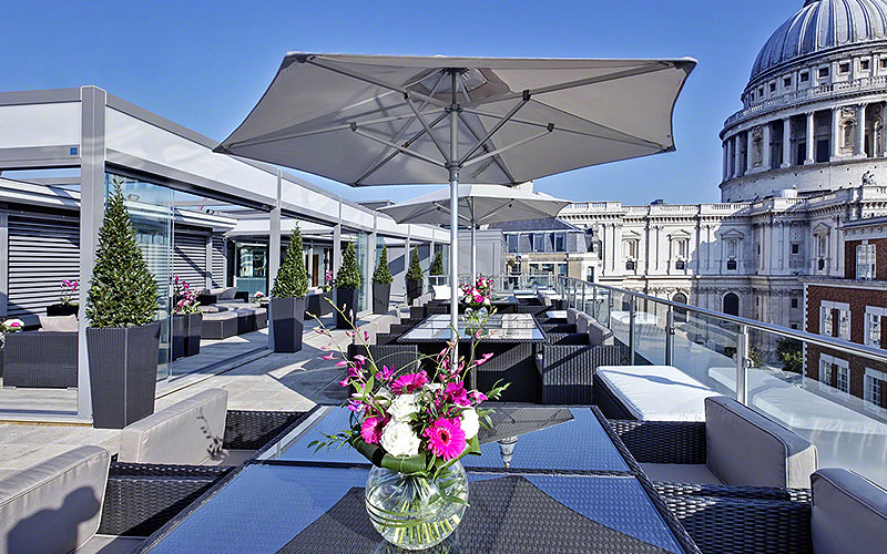 Skybar at the Grange St. Pauls hotel, London