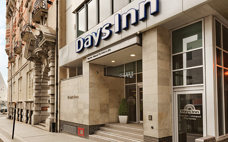 The Days Inn Hotel exterior, Liverpool