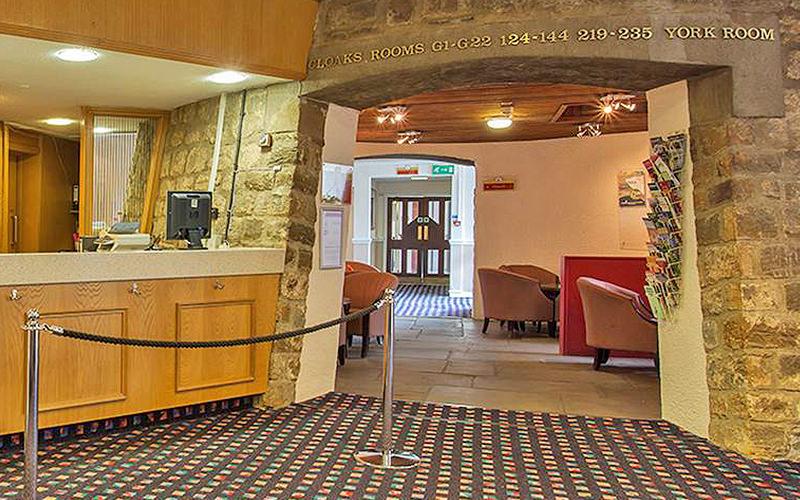 The reception area of the Britannia Leeds