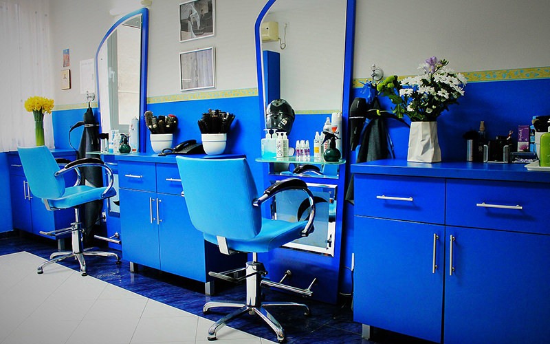 A modern hairdressers studio