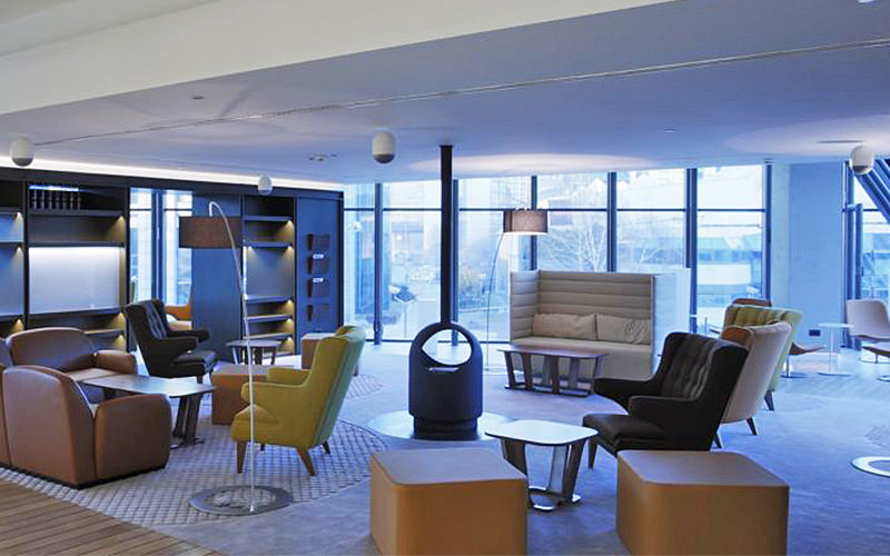 A hotel lobby area