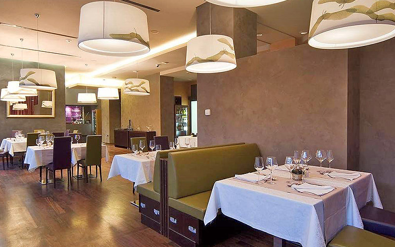 The restaurant within Life Design Hotel in Belgrade