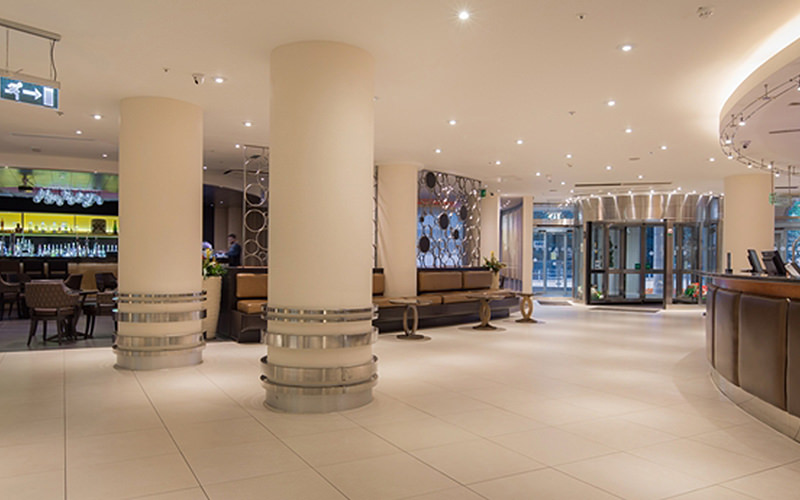 Reception area of Hilton Cardiff