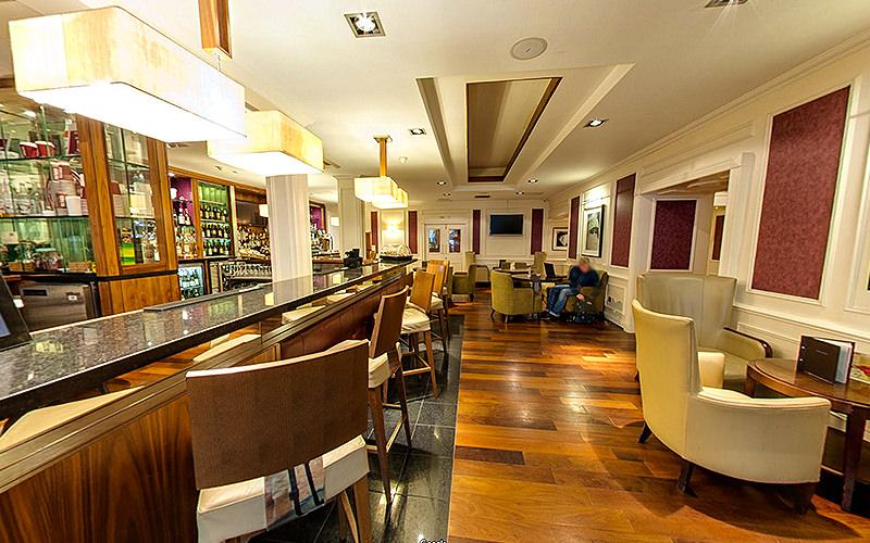 The bar area in Edinburgh