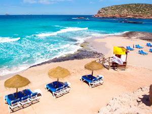 A shot of an Ibiza beach