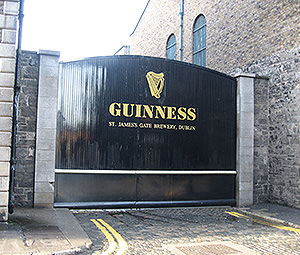 The entrance to Dublin's Guinness factory