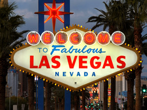 The neon Welcome to Las Vegas sign