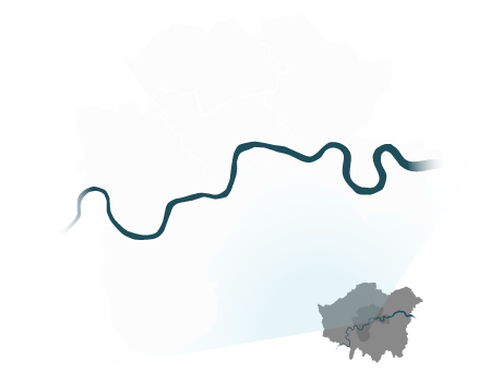 Map of all London.