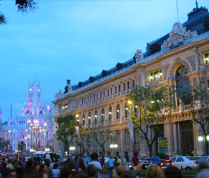 A look at Madrid in the early evening