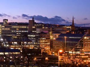A night-time look at Sheffield