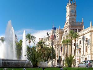 A fountain in Valencia