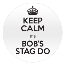 Keep calm badges